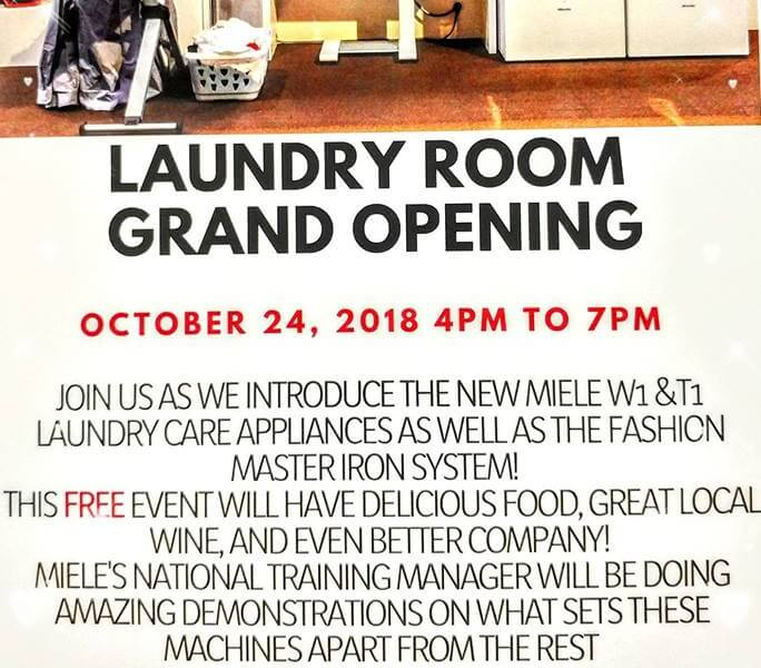 Laundry Room Grand Opening